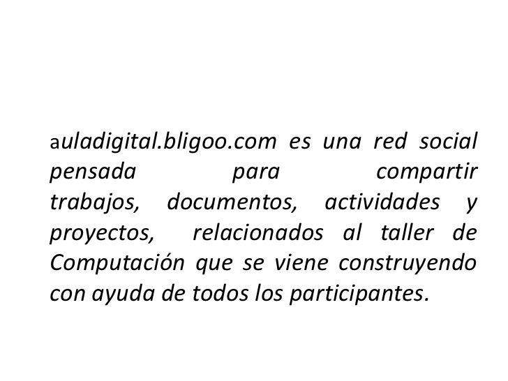Participando en auladigital Slide 2