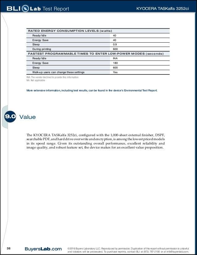 Bli lab report kyocera tas kalfa 3252ci