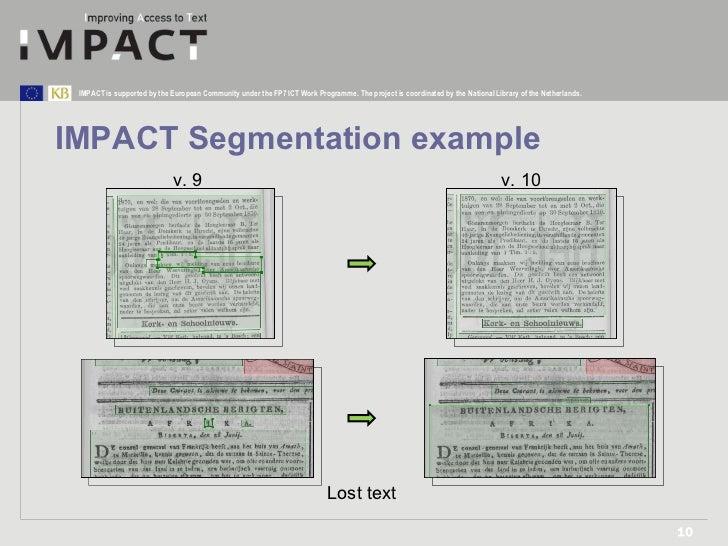IMPACT Segmentation example v. 9 v. 10 Lost text