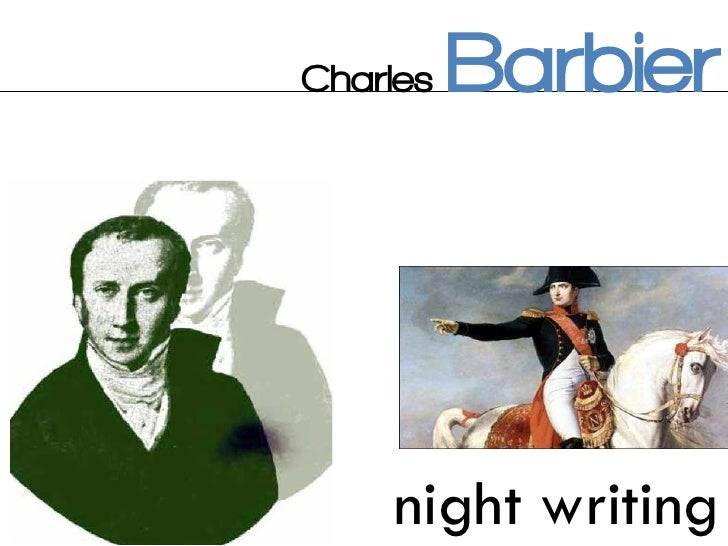 charles barbier night writing assignment