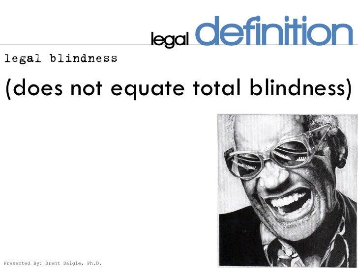 Blind Amp Low Vision