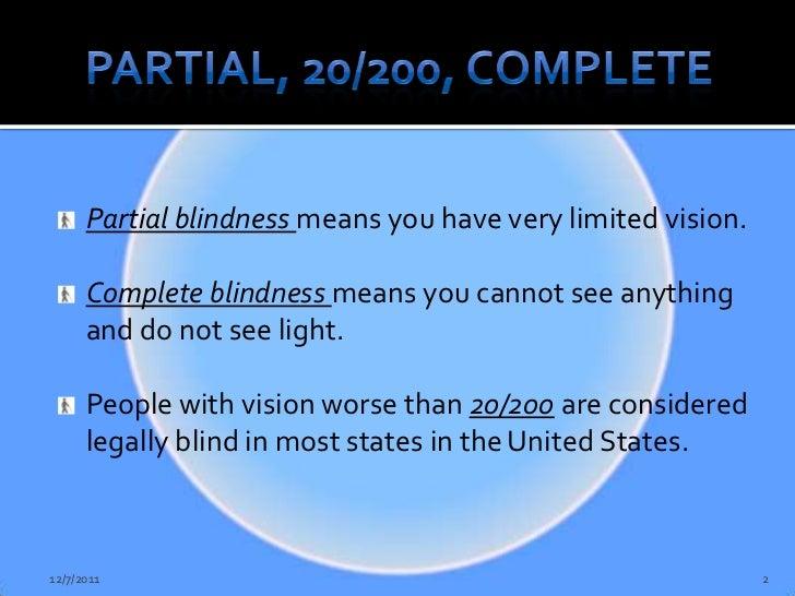 Blindness Awareness