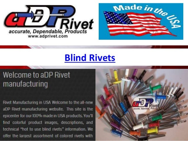 Blind rivets Slide 2