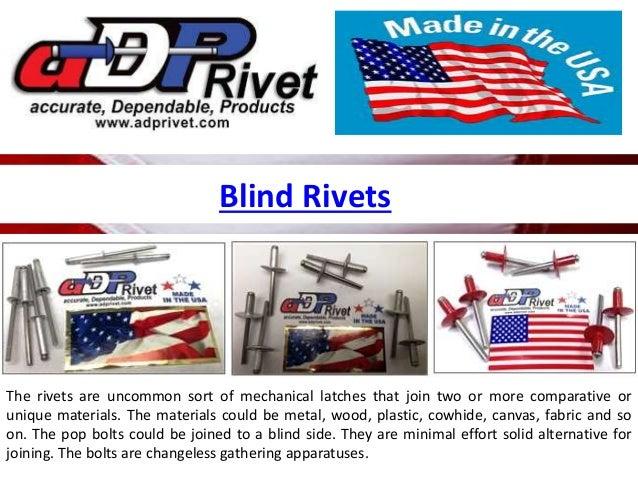 Blind rivets Slide 3