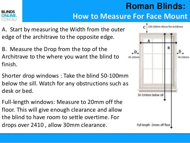 measure outside mount measuring for mounted mounting blindsgalore measurements instructions blinds