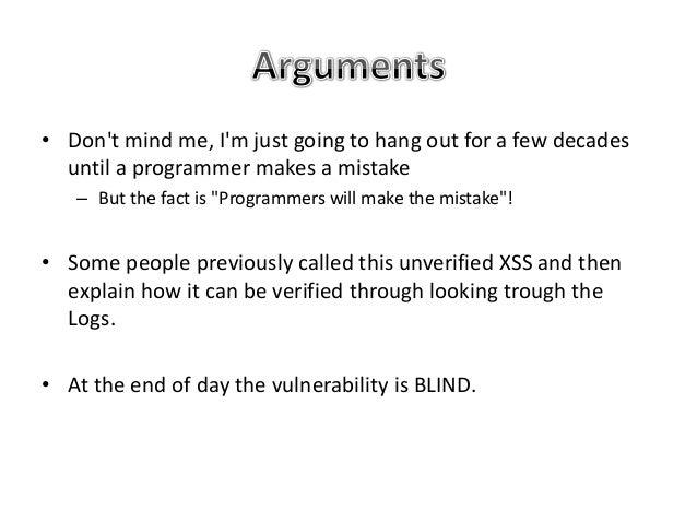 Blind xss