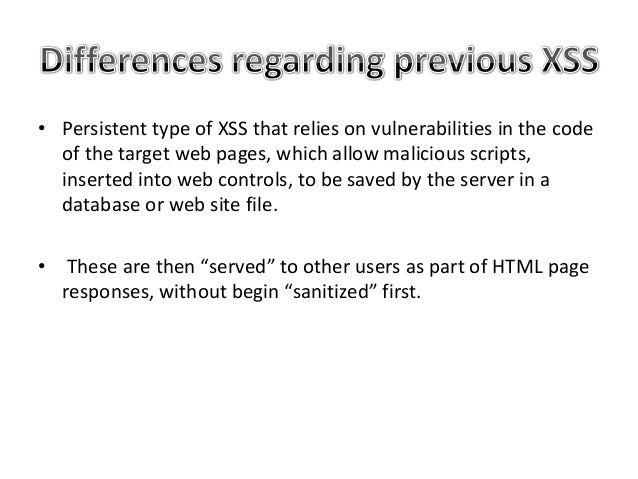 • Code Review and ensure that any user input is properly sanitized. – If this is not done, there is a risk that user input...