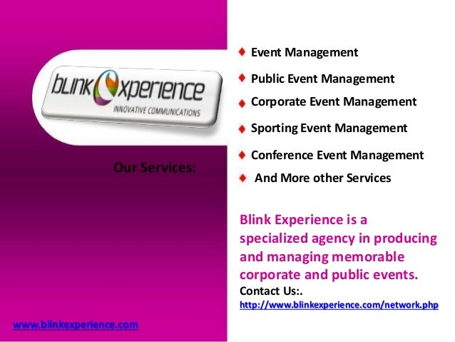 Best Event Management Company in GCC - Blink experience