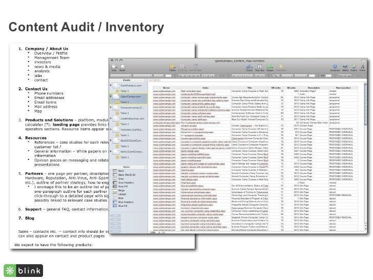 Content Audit / Inventory
