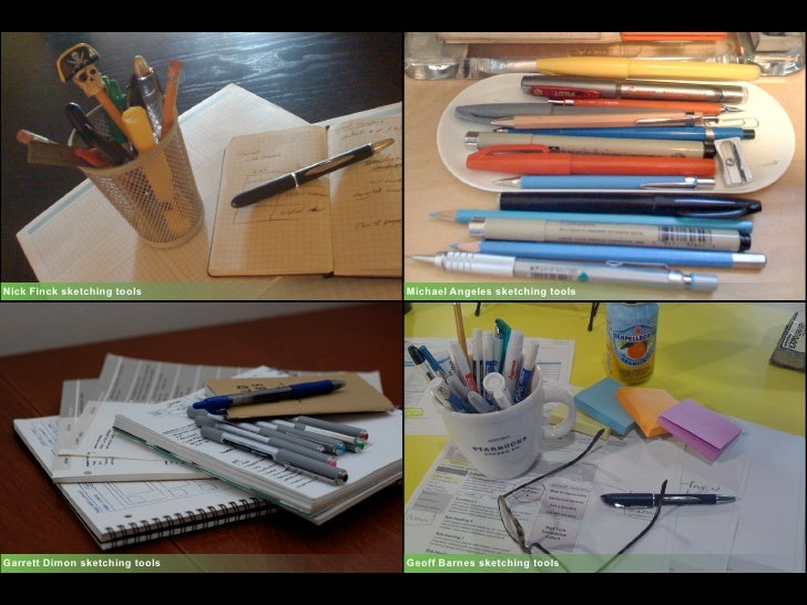 Nick Finck sketching tools      Michael Angeles sketching tools     Garrett Dimon sketching tools   Geoff Barnes sketching...