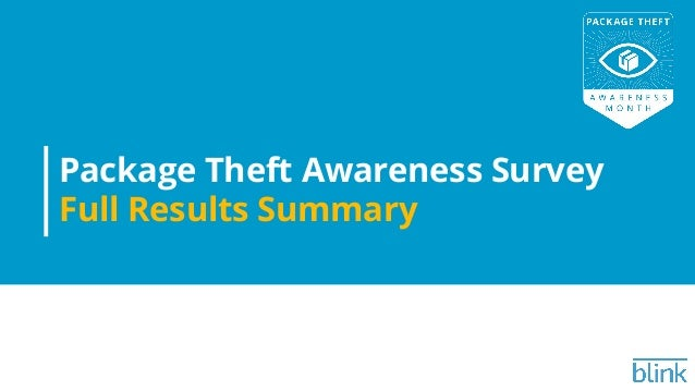 Package Theft Awareness Survey Full Results Summary