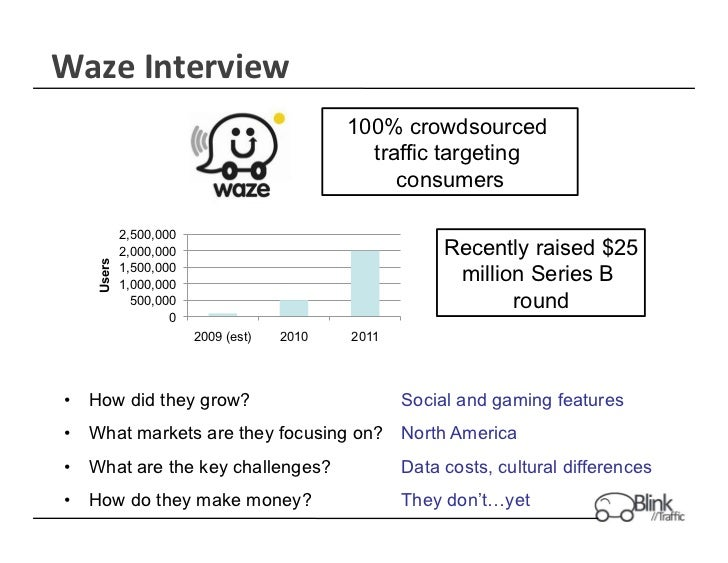 Waze	  Interview	                                              100% crowdsourced                                          ...