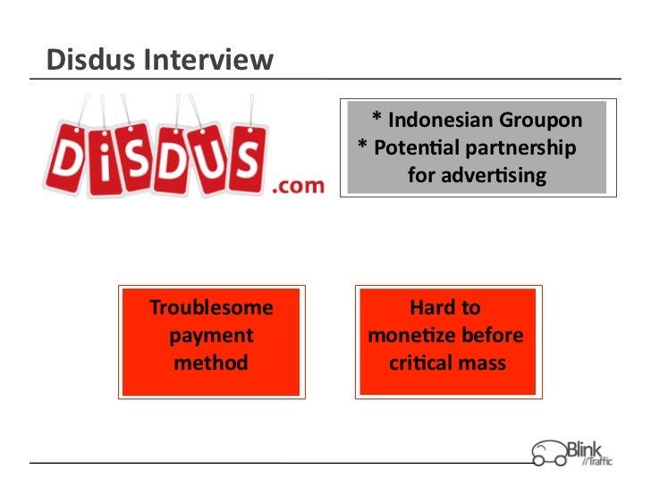 Disdus Interview                                       * Indonesian Groupon                                     ...