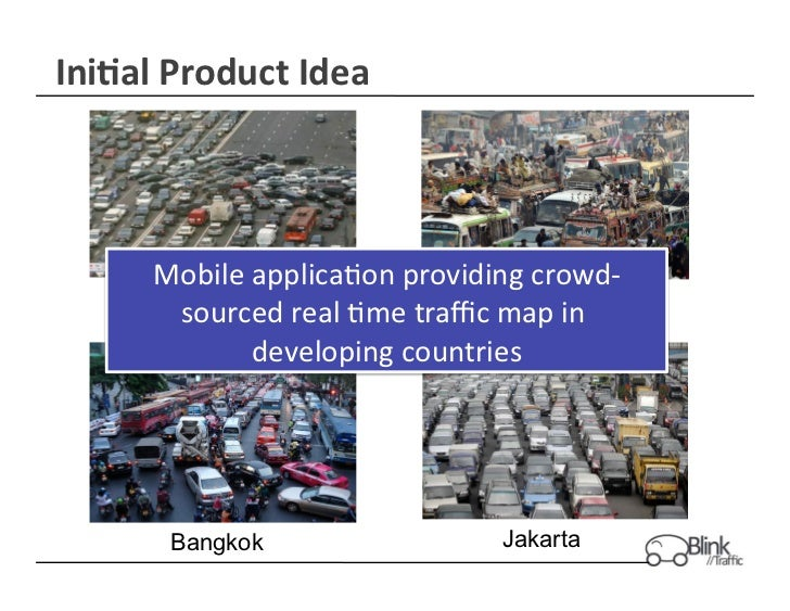 Ini$al Product Idea         Mobile applica+on providing crowd-‐         Shanghai                            L...
