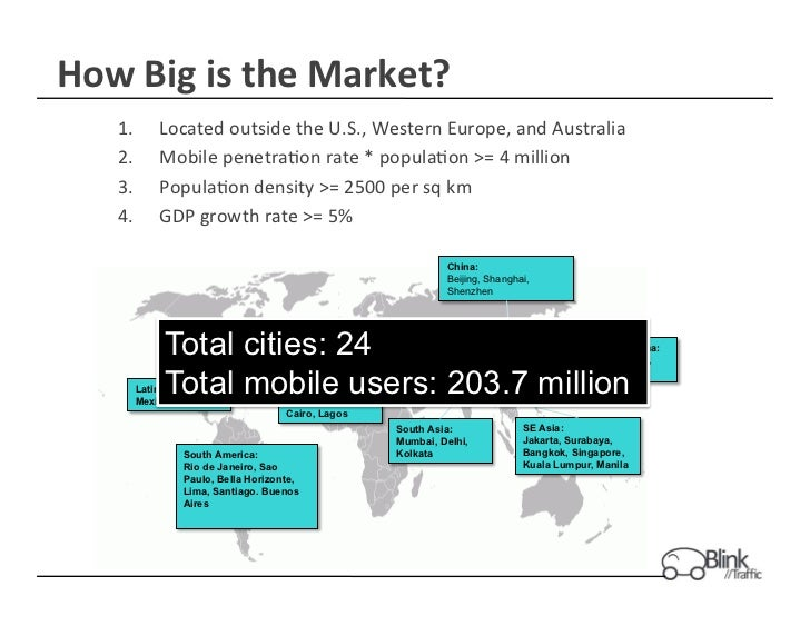 How	  Big	  is	  the	  Market?	       1.    Located	  outside	  the	  U.S.,	  Western	  Europe,	  and	  Australia	       2...