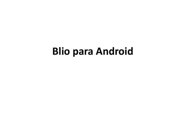 Blio para Android