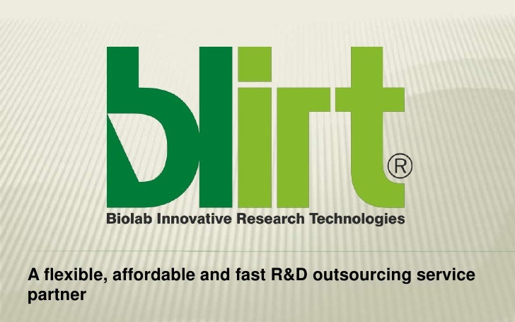 A flexible, affordable and fast R&D outsourcing servicepartner