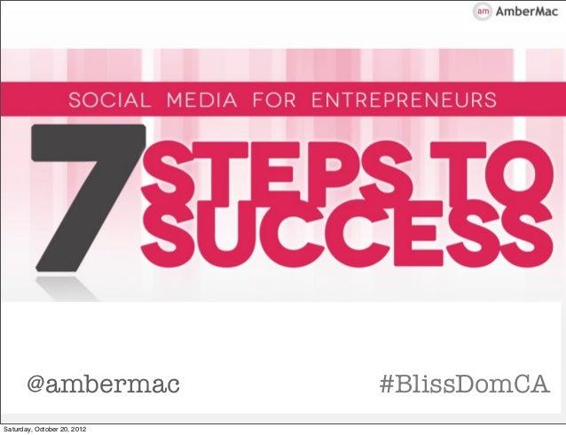 @ambermac             #BlissDomCASaturday, October 20, 2012