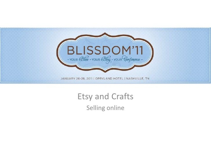 Etsy and Crafts<br />Selling online<br />