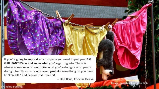 If you're going to support any company you need to put your BIG GIRL PANTIES on and know what you're getting into. There i...