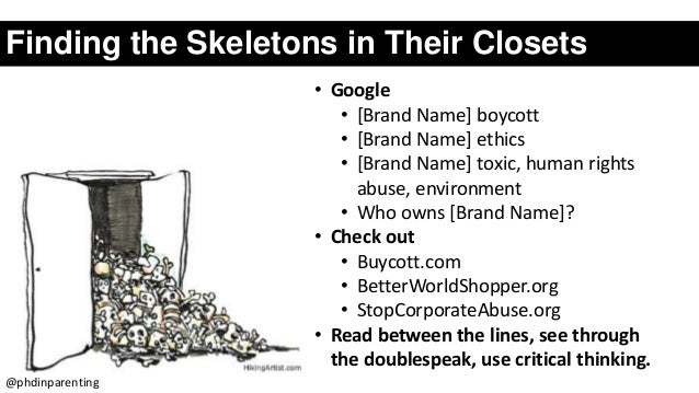 Finding the Skeletons in Their Closets • Google • [Brand Name] boycott • [Brand Name] ethics • [Brand Name] toxic, human r...
