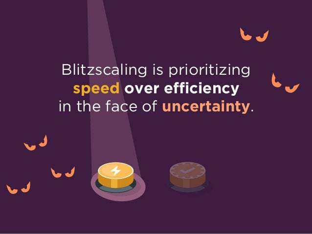 What does it mean to prioritize SPEED over EFFICIENCY?