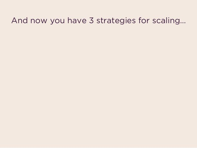 And now you have 3 strategies for scaling… Fast  scaling Efficient  scaling Blitzscaling