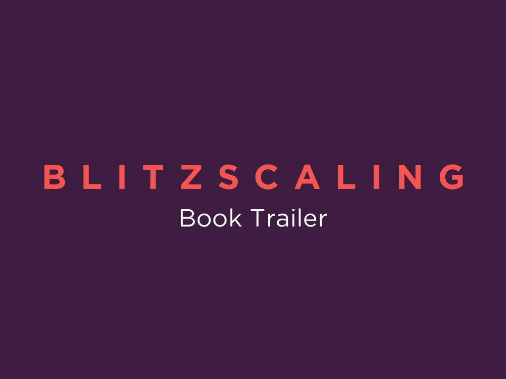 Blitzscaling: Book Trailer