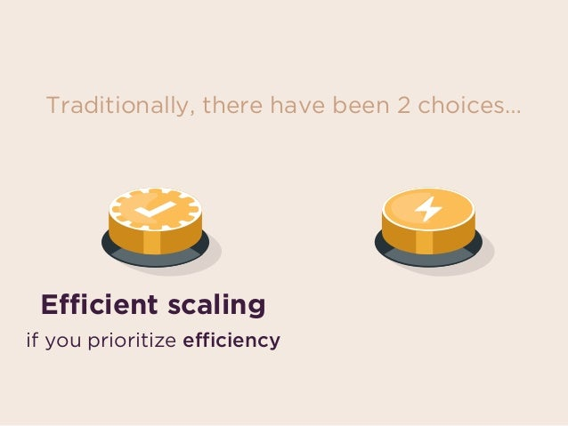 if you prioritize speedif you prioritize efficiency Fast scalingEfficient scaling Traditionally, there have been 2 choices…