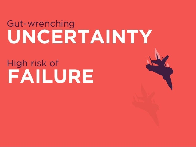 Gut-wrenching UNCERTAINTY High risk of FAILURE Painful DIFFICULTY