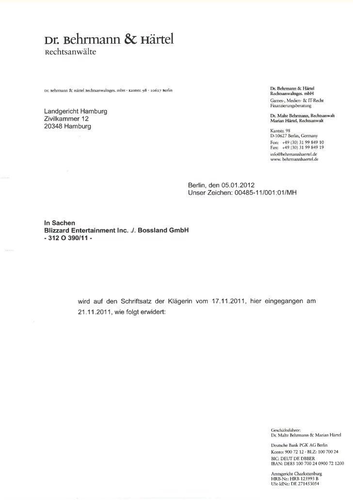 -2-                                     INHALTSVERZEICHNISAz.: 312 O 390/11I. Wettbewerbsrechtlicher Unterlassungsanspruch...