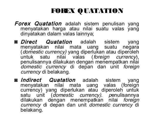 Nilai transaksi forex