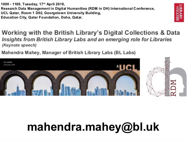 Working with the British Library's Digital Collections
