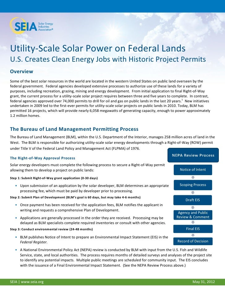 Utility-Scale Solar Power on Federal LandsU.S. Creates Clean Energy Jobs with Historic Project PermitsOverviewSome of the ...