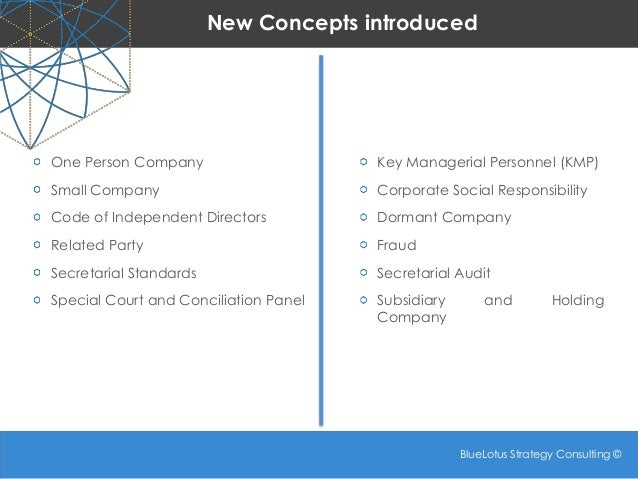 Companies Act 2013 - Some New Concepts: Part 1 Slide 2
