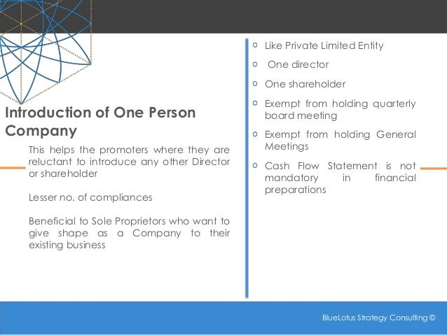 Companies Act 2013 - Some New Concepts: Part 1 Slide 3