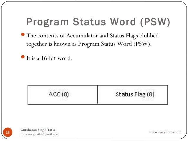 Block diagram of 8085 program status word ccuart Images