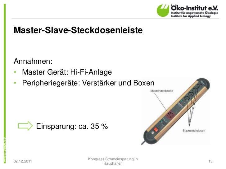 Master-Slave-SteckdosenleisteAnnahmen:• Master Gerät: Hi-Fi-Anlage• Peripheriegeräte: Verstärker und Boxen             Ein...