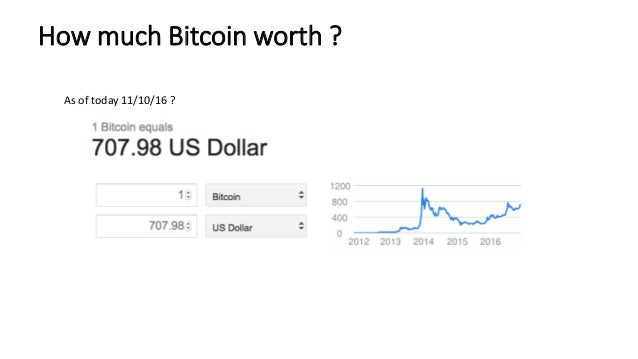 How Much Bitcoin Worth As Of Today 11 10 16