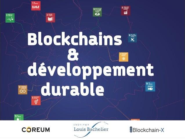 Blockchains développement durable &