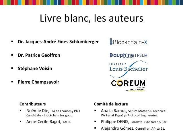 """""""Blockchain & développement durable"""" Slides du webinaire Slide 3"""