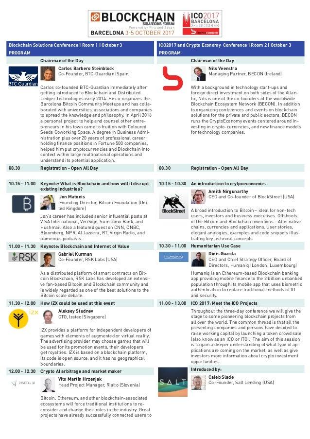 Blockchain solutions forum and crypto-economy