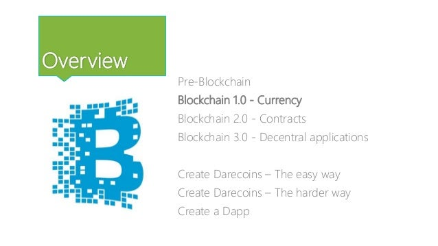 Blockchain 1.0 - Currency