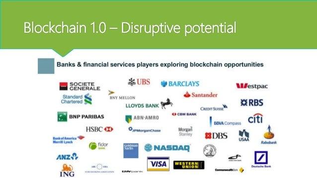 Blockchain 1.0 – Market cap (9/8/16) € 8.38 € 0.87 € 0.19 € 0.19 € 0.16 € 0.14 € 0 € 4 € 8 Bitcoin Ripple Litecoin Billions