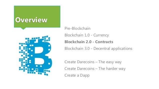 Blockchain 2.0 - Contracts