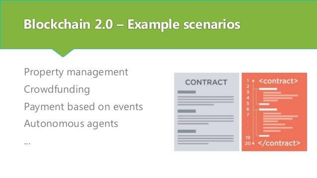 Blockchain 2.0 - Building blocks Language to define logic Blockchain execution environment