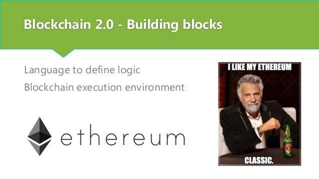 Blockchain 2.0 – Disruptive potential Your company?
