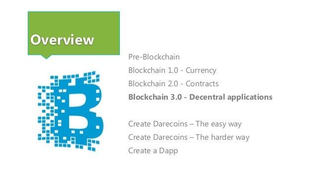 Blockchain 3.0 - Decentral applications