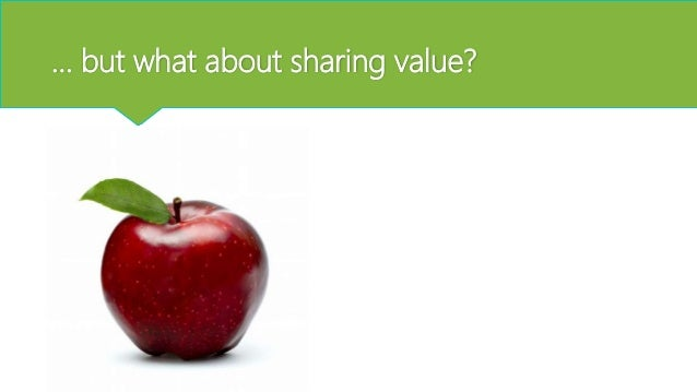 … but what about sharing value?