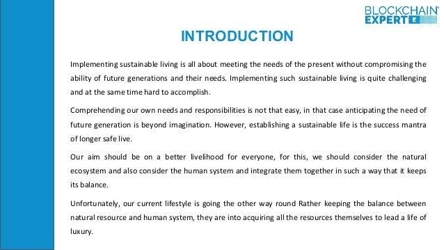 Blockchain and Sustainability Slide 2